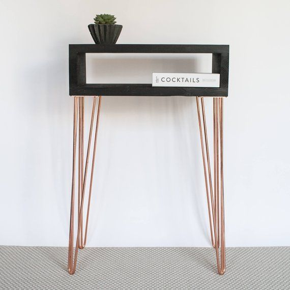 A Stylish Console Table Made With Reclaimed Recycled Wood And Mid