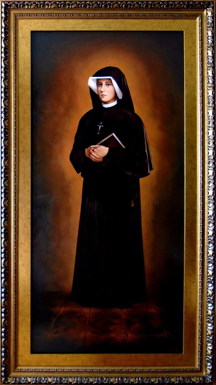 Miłosierdzie Boże, Jezu Ufam Tobie, Tryptyk, Święta Faustyna - fragment 3,  150cm x 70cm,  Obraz olejny na płótnie