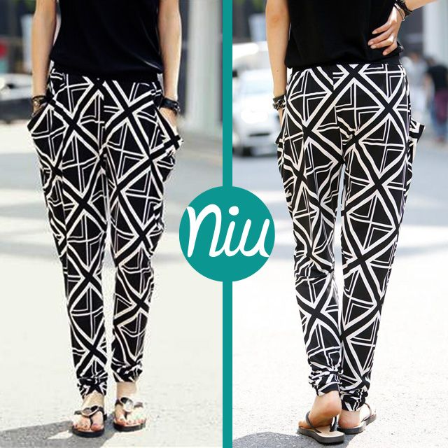 pantalones de silueta ancha con estampado geométrico, encuentra esto y mucho más en: www.niuenlinea.co
