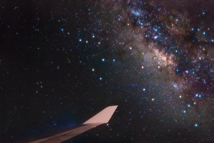 Bright stars of Sagittarius and the center of our Milky Way Galaxy lie just off the wing of a Boeing 747 in this astronomical travel photo. The stratospheric scene was captured earlier this month during a flight from New York to London, 11,000 meters above the Atlantic Ocean. Of course the sky was clear and dark at that altitude, ideal conditions for astronomical imaging.
