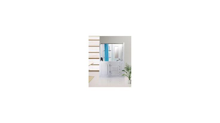 Combiné baignoire à porte balnéo MALÉ pour personnes à mobilité reduite - baignoire design - mobilier salle de bain