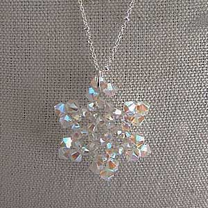Swarovski snowflake necklace by DonnaCDesigns