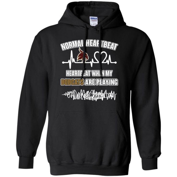 Texas State Bobcats T shirts Heartbeat When My Bobcats Playing Hoodies Sweatshirts