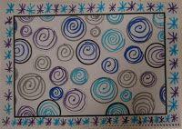 LA CLASE DE MIREN: mis experiencias en el aula: TALLER DE GRAFISMO: ESPIRALES INVERNALES