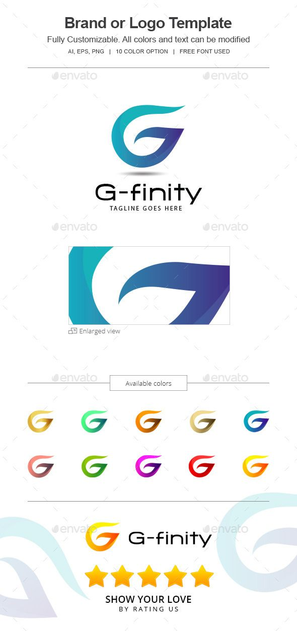 G-finity letter G  -144-G Logo Design Template Vector #logotype Download it here: http://graphicriver.net/item/gfinity-letter-g-logo-144g/12492681?s_rank=575?ref=nexion