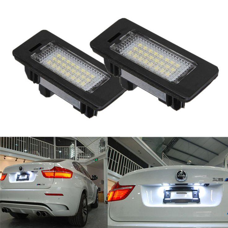 2 шт./пара 24 Led фонарь освещения номерного знака светодиодные Лампы Белого 6000 К Ошибка Бесплатно Для BMW E39 M5 E70 E71 X5 X6 E60 M5 E90 E92 E93 M3 525i