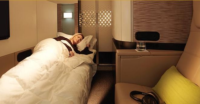 The Flight from America That Flies the Fanciest Commercial Plane in First Class