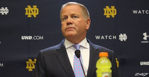 Following today's news that Notre Dame will have to vacate wins from the 2012 and 2013 seasons, Brian Kelly was asked if he will coach Notre Dame next season. He responded.