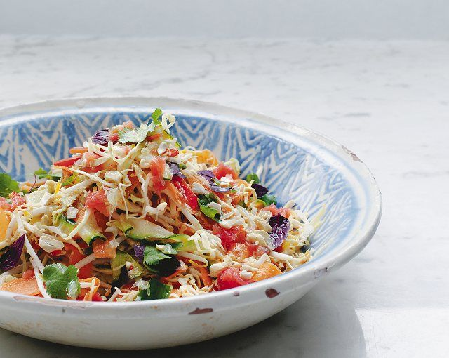 Thai Citrus Crunch Salad from A Modern Way To Eat - Thai Vegan Thai Citrus Crunch Salad from A Modern Way To Eat is simple and delicious!