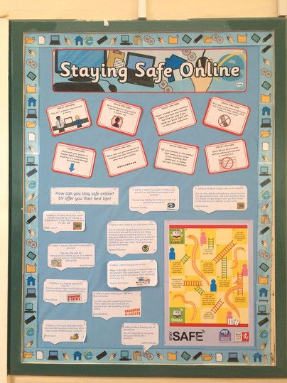 Staying safe online display inspiration