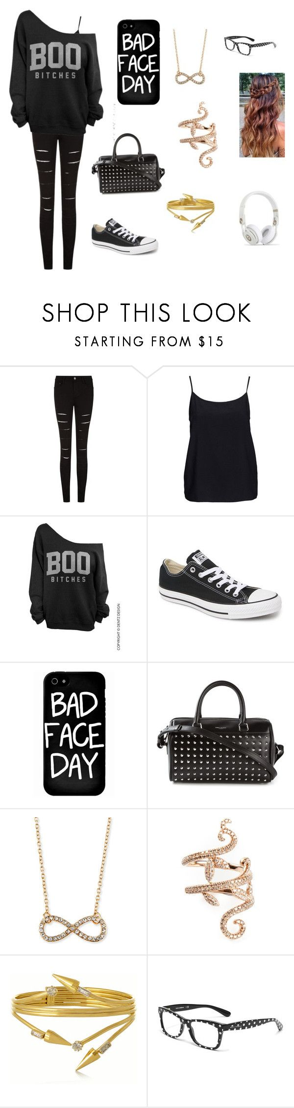 """Untitled #46"" by chloe950 ❤ liked on Polyvore featuring Vero Moda, Converse, Local Heroes, Yves Saint Laurent, Jules Smith, Elise Dray, VICKISARGE and Dolce&Gabbana"