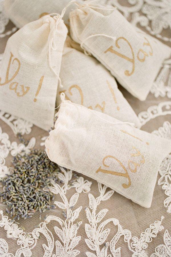 PRECIOUS bags for a lavender or rose petal toss! Photography by ktmerry.com