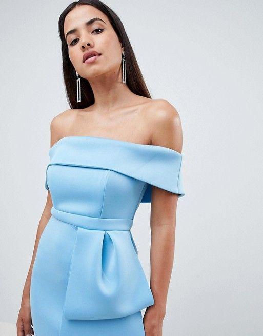 d4f8c6d84d7ceb DESIGN Scuba extreme bow front midi dress | Dress | Dresses, Asos ...