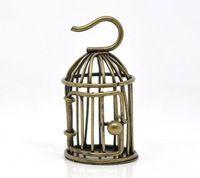 DoreenBeads Античная Бронзовая 3D Bird Cage Подвески Подвески 48x28 мм, продается в упаковке из 5