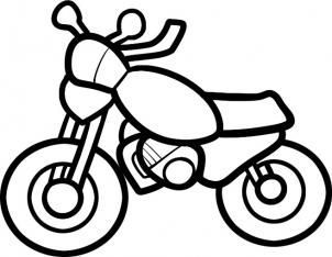 Cars – How to Draw a Motorcycle for Kids