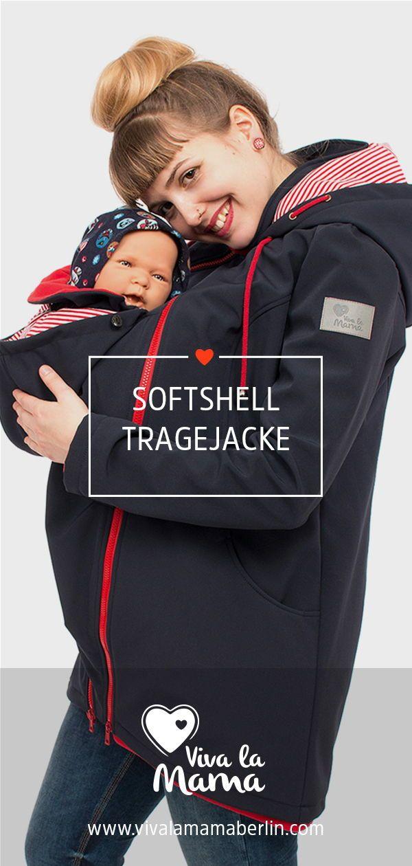 softshell babytrage jacke