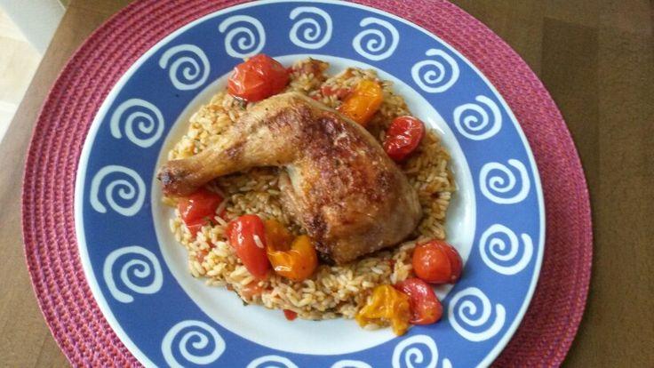 Huhn mit Jollof Reis
