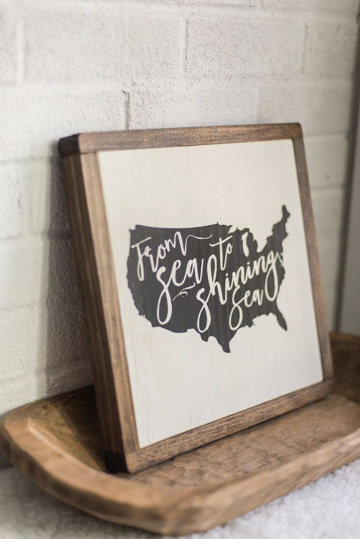 USA sign | Framed Wood Sign | From Sea to Shining Sea | wood signs sayings by 2daughtersheirlooms on Etsy https://www.etsy.com/listing/267779202/usa-sign-framed-wood-sign-from-sea-to