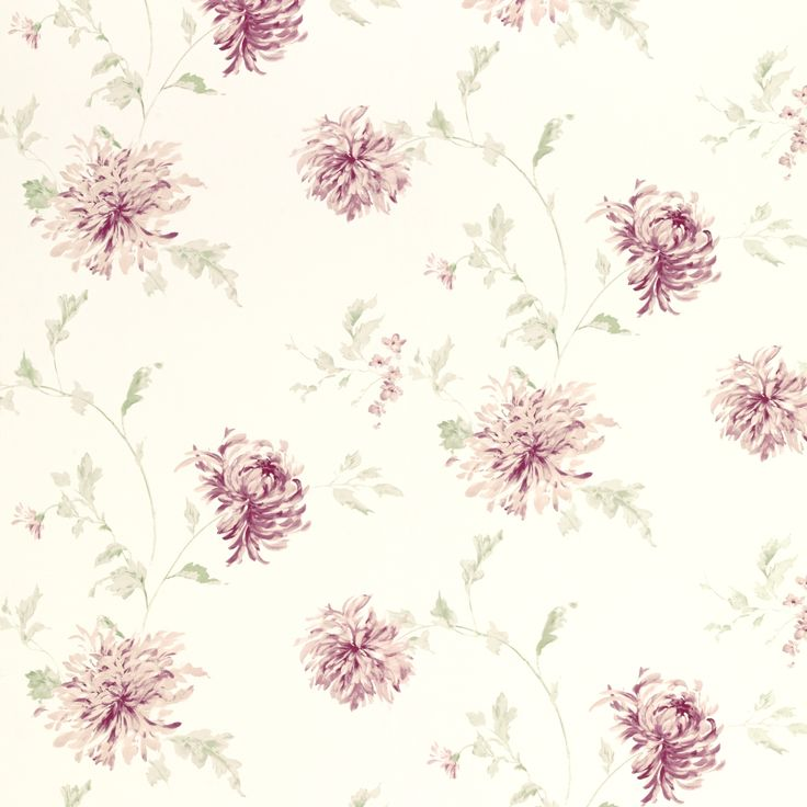 Ninette Berry Pink Floral Wallpaper