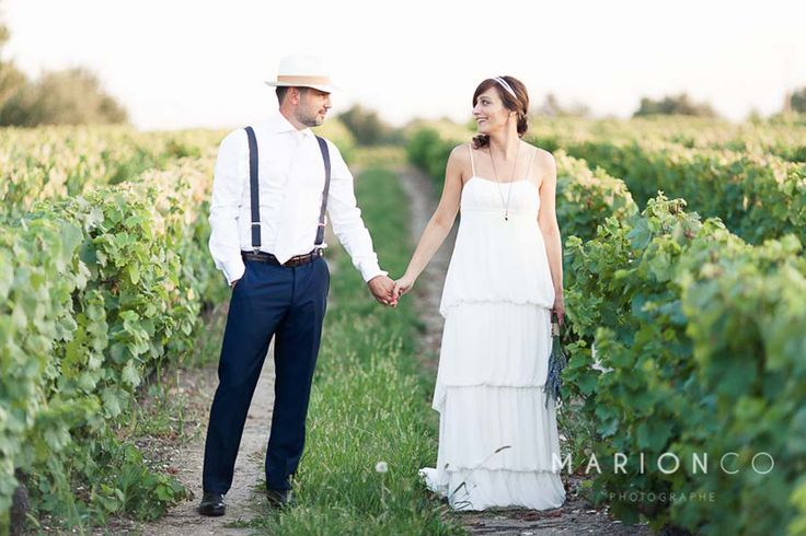 chouette photo dans les vignes