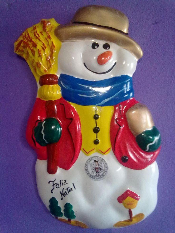 Boneco de neve de gesso