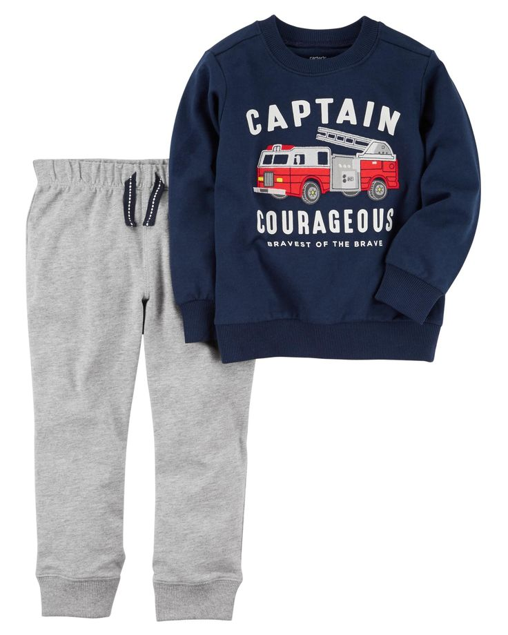 Baby Boy 2-Piece French Terry Pullover & Jogger Set | Carters.com