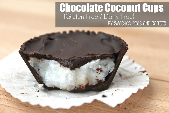 Chocolate Coconut Cups {Gluten and Dairy Free} - Smashed Peas & Carrots