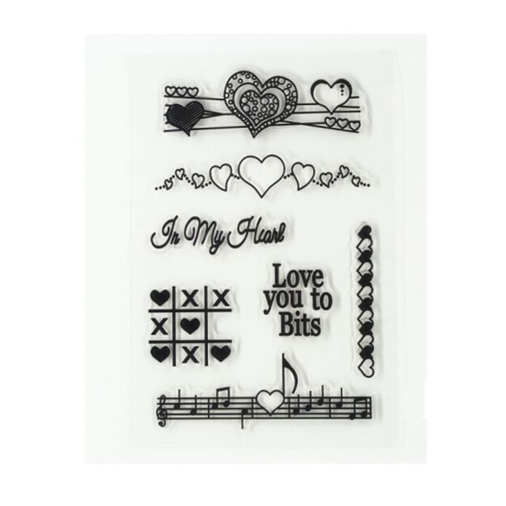 Clear Stamps Scrapbook DIY Photo Cards Ruber Stamps Seal Love You to Bits Transparent Silicone Transparent Stamps.