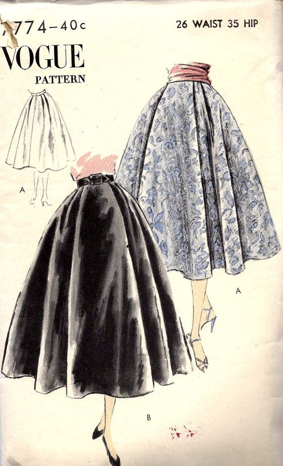 Full skirt vintage Vogue pattern. Costs about NZ$21 including shipping.