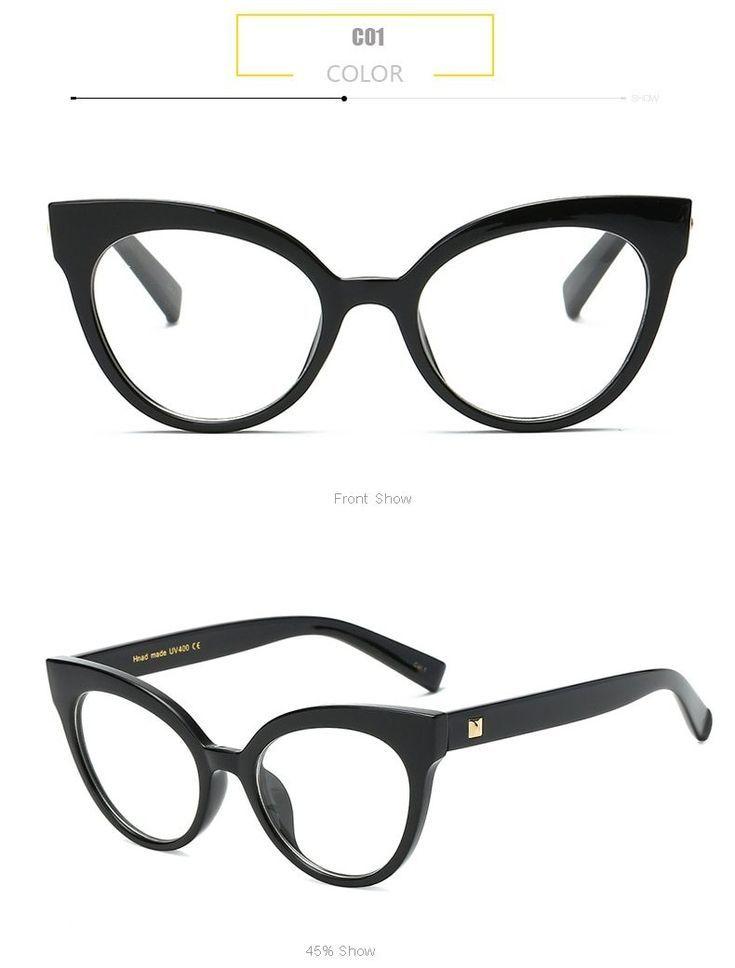 Anedf Women Cat Eye Glasses Fashion Ladies Clear Lens Glasses