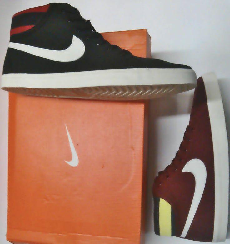 nike en bota disponible en negro y rojo oscuro a solo 205.000