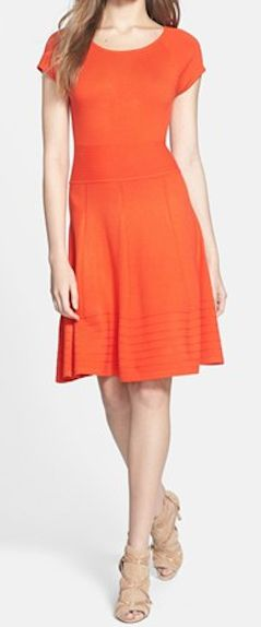 Fit & Flare dress in orange http://rstyle.me/n/fgzz2nyg6