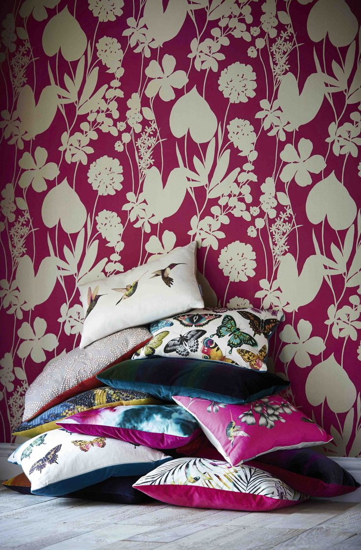 Products harlequin designer fabrics and wallpapers paradise - Wallpaper Direct Offers A Range Of Harlequin Cushions From The Amazilia Cushion Collection