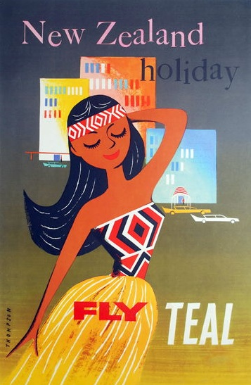New Zealand - TEAL (now Air New Zealand) retro advertising