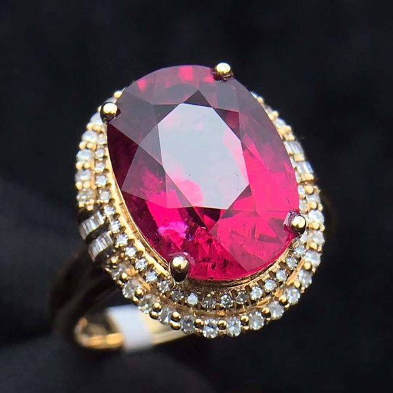 fa4b2617d353 k18gold ring the rare Natural Tourmaline ring diamond Engagement Ring K14  K10 K9 SILVER RUBY lapis l in 2019