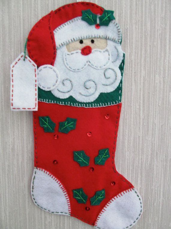 Santa Buddy completado media fieltro hecho a por GrandmasStitchings
