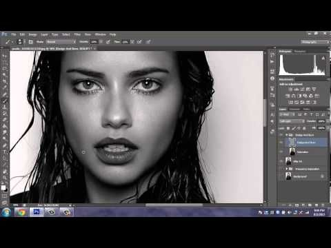 Adriana Lima - High-End Skin Retouching Photoshop CS6 - Timelapse
