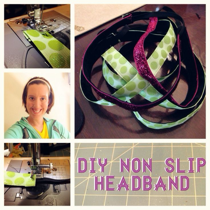 how to make no slip headbands