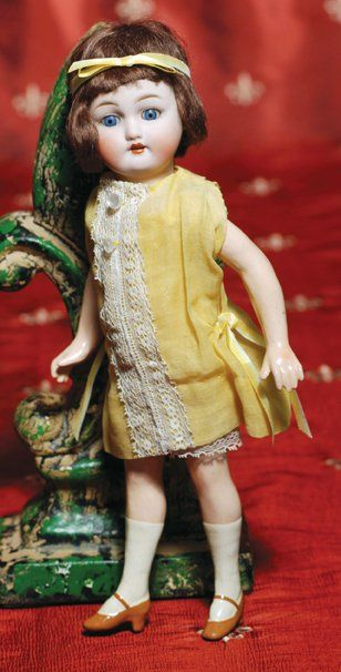 14: GERMAN BISQUE FLAPPER DOLL BY SIMON & HALBIG.