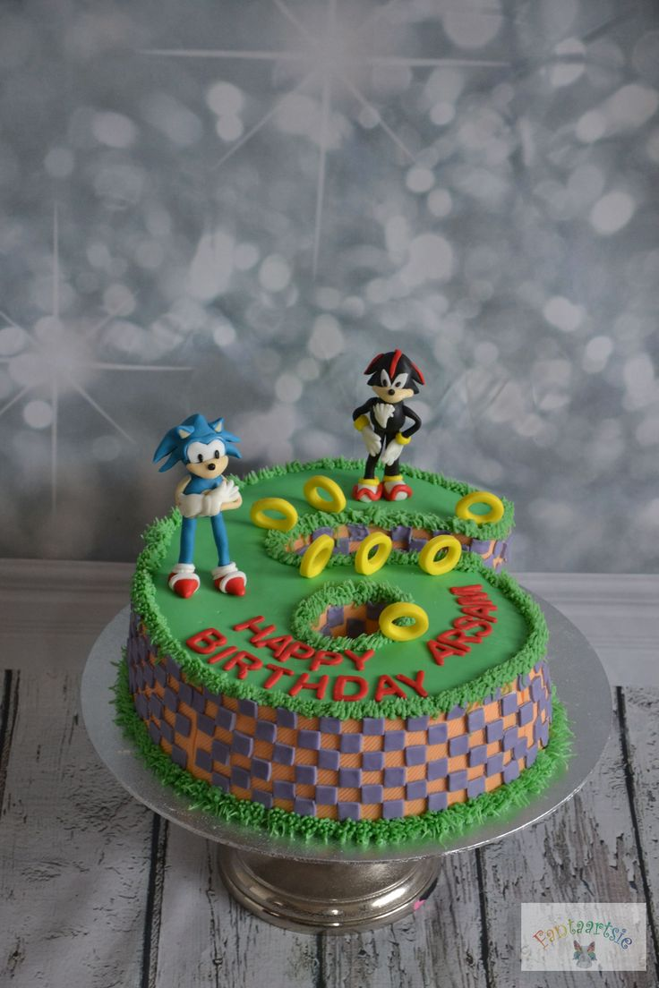 sonic taart cake