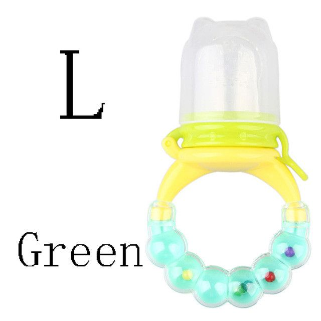 (Momy And Angel) Baby Bottles Size S-M-L 4 colors Safety Non-Toxic Silicone Nipple Fresh Food Milk Nibbler Feeder Feeding Tool
