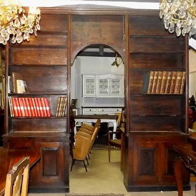 Libreria a ponte in patina noce dell 39 800 dal 1959 la - Restauro mobili genova ...