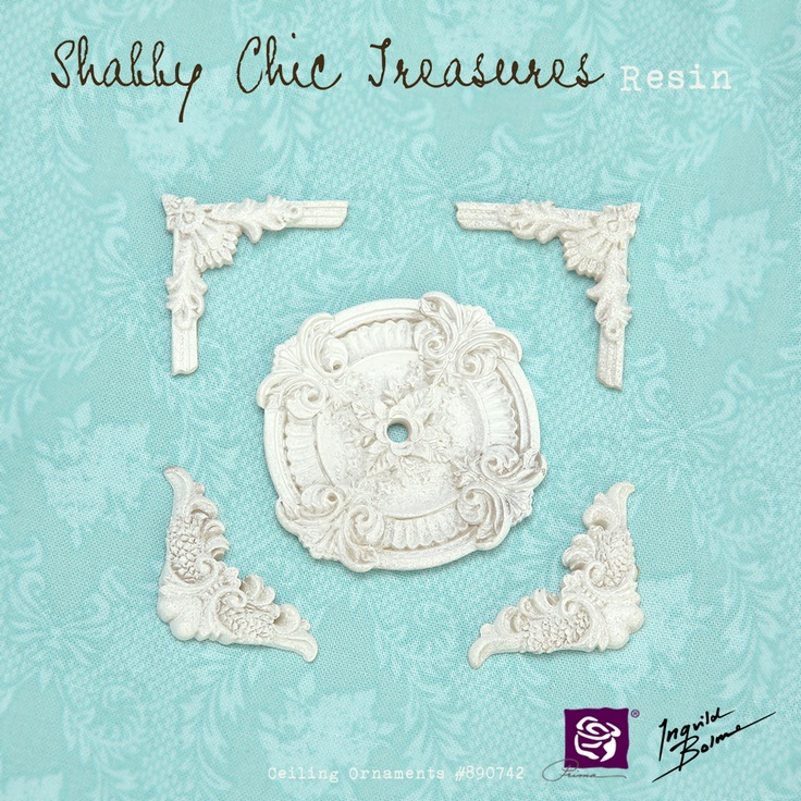 Shabby Chic Resin Treasures - Ceiling Ornaments