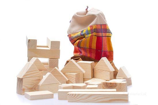 Sada drevených kociek