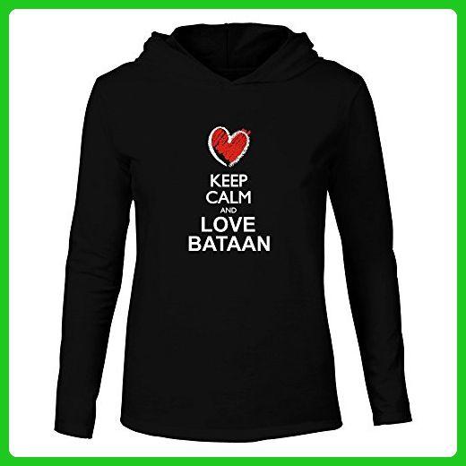 Idakoos - Keep calm and love Bataan chalk style - Cities - Hooded Long Sleeve T-Shirt - Cities countries flags shirts (*Amazon Partner-Link)