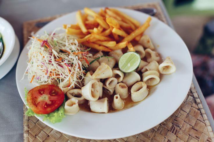 Grilled Calamari at tartaruga Restaurant, Unawatuna, Sri Lanka