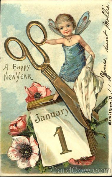 A Happy New Year  January 1  ~1906~. My new year resolution reminder :)