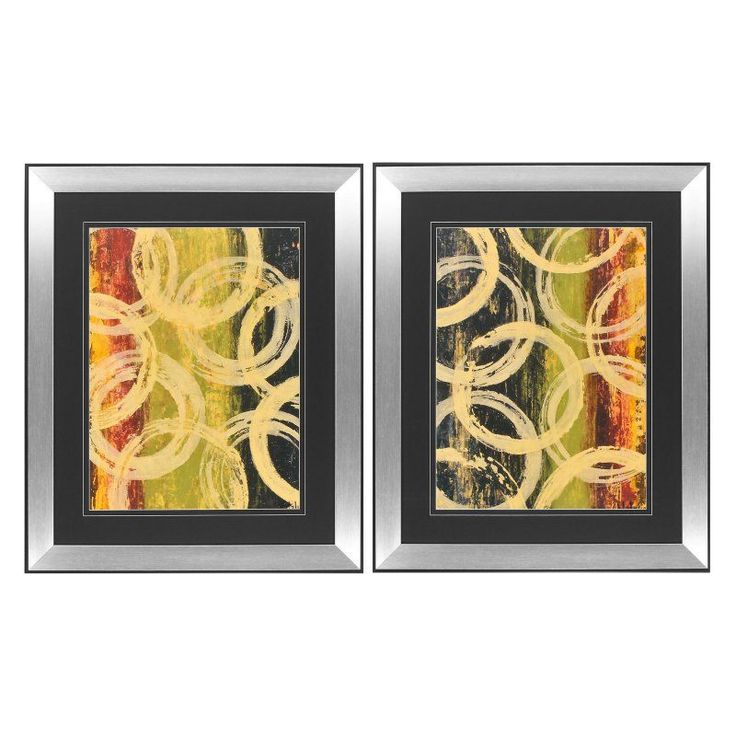 propac images rings of engagement framed painting print set of 2 3793