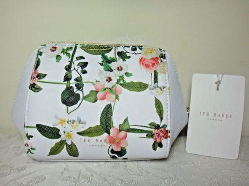 NWT-Ted-Baker-London-Secret-Trillis-SM-Wash-bag-White-Multi