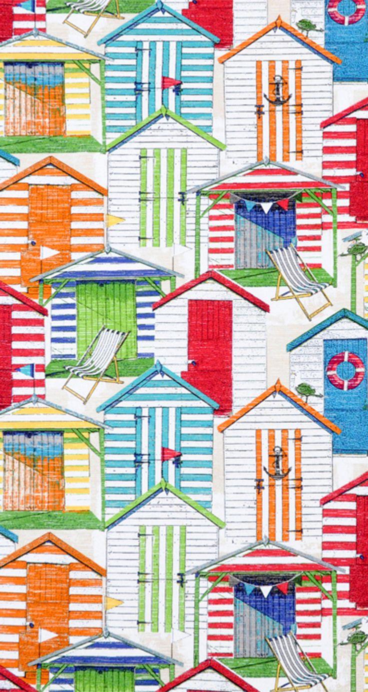 Richloom Outdoor Beach Hut Cabana Fabric #nautical